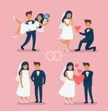 Невеста пар свадьбы Стоковые Изображения
