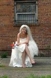 невеста переулка Стоковая Фотография