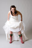 невеста смешная Стоковое фото RF