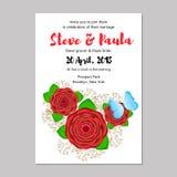 невеста смогите прочесать карточки приветствуя венчание кец панелей приглашений groom используемое шаблоном Стоковое Изображение