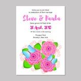 невеста смогите прочесать карточки приветствуя венчание кец панелей приглашений groom используемое шаблоном Стоковые Фотографии RF