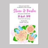 невеста смогите прочесать карточки приветствуя венчание кец панелей приглашений groom используемое шаблоном Стоковое Изображение RF