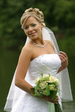 невеста счастливая стоковые изображения