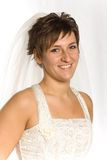 невеста счастливая стоковое изображение