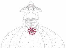 Невеста с букетом венчания. Стоковое Изображение