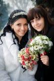 Невеста с ее милым bridesmaid Стоковое фото RF
