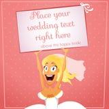 Невеста с текстом Стоковые Изображения