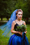 Невеста тяжелого рока стоковая фотография