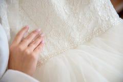 Невеста урожая с красивым платьем Стоковые Изображения RF