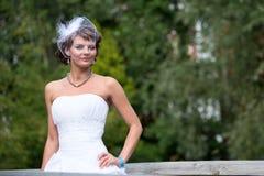 Невеста элегантна стоковое фото rf