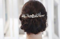 Невеста ювелирных изделий волос стоковое изображение rf