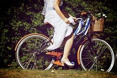 Невеста Bike Стоковые Фотографии RF
