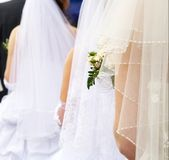 невесты 3 букетов wedding Стоковая Фотография RF