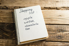 дневник блокноты Примечание Список покупок Стоковая Фотография RF