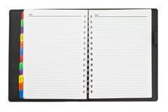 дневник открытый стоковые изображения