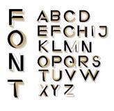 Невозможные письма геометрии Невозможный шрифт формы Стоковое фото RF