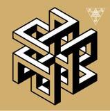 Невозможные символы геометрии Стоковые Фотографии RF