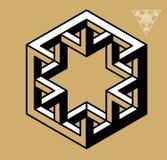 Невозможный вектор символов геометрии Стоковые Фото