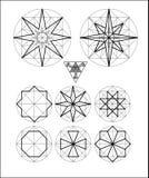 Невозможный комплект вектора символов геометрии Стоковая Фотография