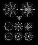 Невозможный комплект вектора символов геометрии Стоковое Фото