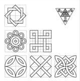 Невозможный комплект вектора символов геометрии Стоковая Фотография RF