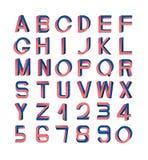 Невозможный комплект шрифта Стоковое Фото