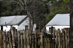 Невольничьи кварталы в Южной Каролине стоковое фото