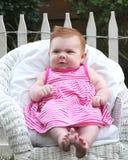 неделя 10 младенцев с волосами старая красная Стоковые Фотографии RF