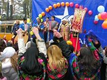 неделя ukrainian блинчика maslenitsa праздника стоковая фотография