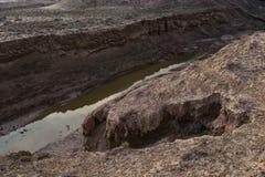 Недостатки земной коры, последствие землетрясения стоковое фото