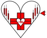 Недостаток красного сердца положительный бесплатная иллюстрация