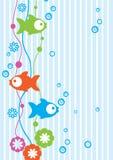 Нежая предпосылка с рыбами Иллюстрация штока