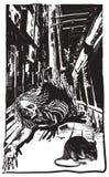 Нежити, зомби - вектор, freehand делая эскиз к Стоковая Фотография RF