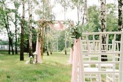 Нежное и стильное оформление свадьбы стоковая фотография