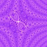 Нежное пастельное фиолетовое и белое раскосное влияние предпосылки связало шнурок фрактали Стоковое фото RF