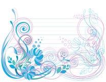 нежность предпосылки голубая флористическая зеленая Стоковые Изображения RF