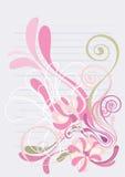 нежность предпосылки флористическая зеленая розовая Стоковые Фотографии RF