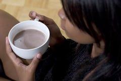 нежность фокуса шоколада горячая Стоковое Изображение