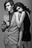 Нежность & любовь. Красивый обнимать пар. Преданность Стоковые Изображения