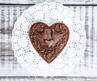 Нежные романтичные диаграммы шоколада валентинки на печенье стоят Стоковое Изображение