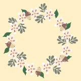 Нежные цветки жолудей бесплатная иллюстрация