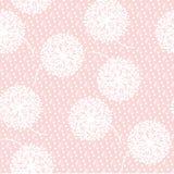Нежный бледный одуванчик конспекта цвета цветет безшовная картина Стоковое Изображение