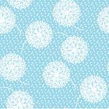 Нежный геометрический одуванчик стиля цветет безшовная картина Стоковые Фотографии RF
