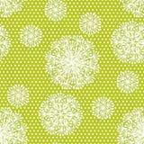 Нежный геометрический одуванчик стиля цветет безшовная картина Стоковые Фото