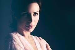 Нежный портрет женщины Стоковое Изображение RF