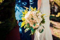 Нежный романтичный букет свадьбы Стоковое Изображение RF