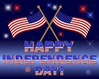 независимость дня карточки Стоковые Фотографии RF