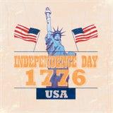независимость grunge дня предпосылки ретро бесплатная иллюстрация