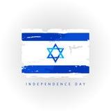 независимость grunge дня предпосылки ретро flag Израиль Стоковые Изображения