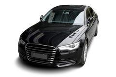 Независимый черный статический автомобиль в белой предпосылке Стоковая Фотография